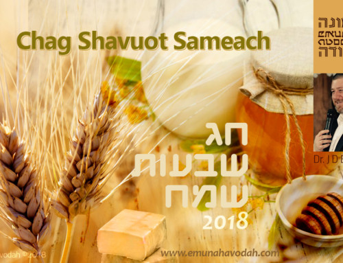 Shavuot 2018 – Dr Justin D Elwell